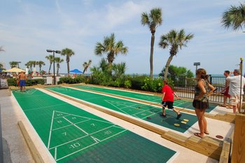 Shuffle board at Compass Cove Resort.
