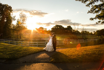 Romantic wedding at Stonehedge Inn and Spa.