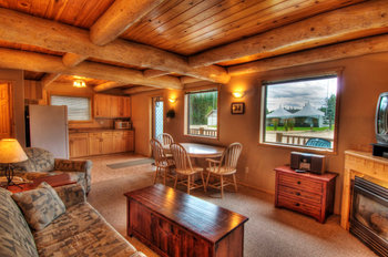 Cabin interior at Elk Ridge Resort.