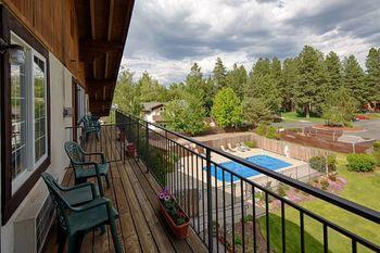 Balcony view at Alpen Rose Inn.