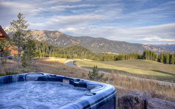 Rental hot tub at Big Sky Luxury Rentals.