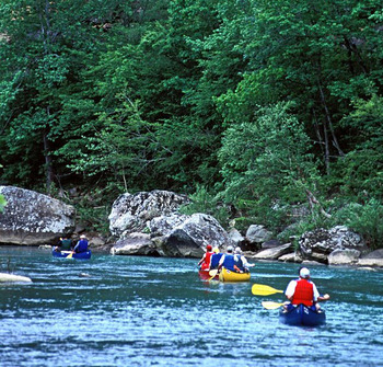 Water activities at Mulberry Mountain Lodge.