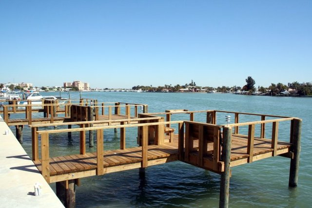 Fishing dock at Liberte Management Group.