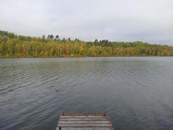 Lake view at Isle O' Dreams Lodge.