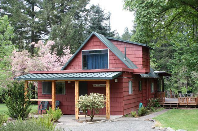 Cabin exterior at The Wayfarer Resort.