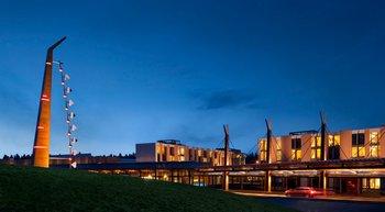 Exterior view of Coeur d Alene Casino Resort Hotel.