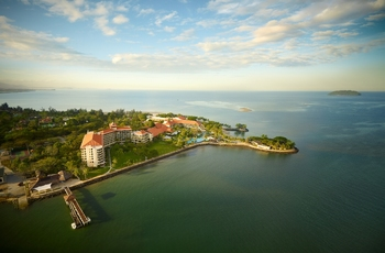 Aerial view of Shangri-La's Tanjung Aru Resort.