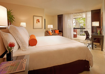 Guest room at Mayfair Hotel & Spa.