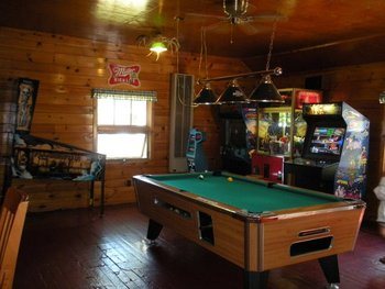 Game room at Pitlik's Sand Beach Resort.