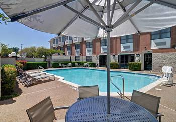 Outdoor pool at SpringHill Suites Dallas.
