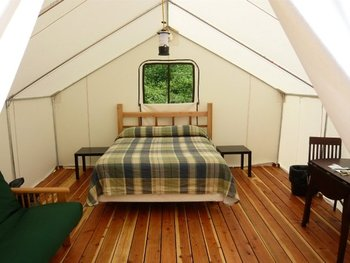 Cabin tent at West Beach Resort.