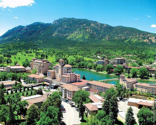 Aerial view of The Broadmoor.