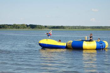 Lake fun at Hiawatha Beach Resort.