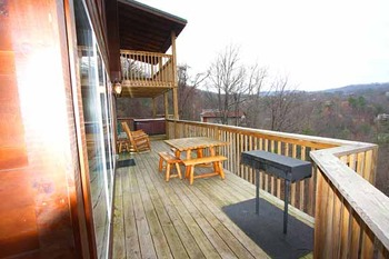 Deck View at Baskins Creek Cabin Rentals
