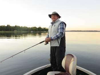Fishing at Kec's Kove Resort.