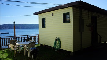 Cabin exterior at Mike's Beach Resort.