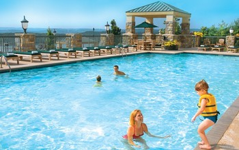 Outdoor pool at Chateau on the Lake.