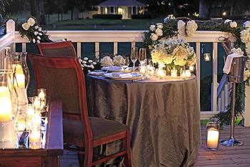 Romantic dining at Meadowood Napa Valley.