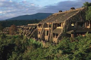 Exterior view of Ngorongoro Serena Safari Lodge.