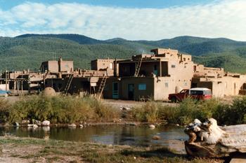 Historic Taos Pueblo at  at Palacio de Marquesa.