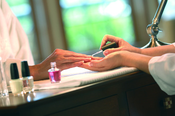 Manicures at Fairmont Le Chateau Montebello.