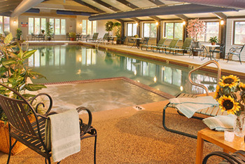 Indoor pool at Attitash Marketplace Motel.