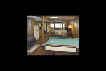 Recreation room at Cedar Valley Lodge.