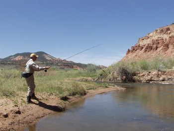 Fishing at The Lodge at Red River Ranch.