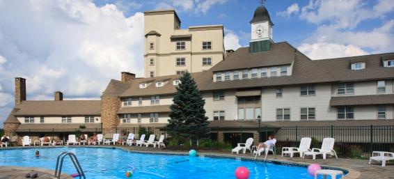 Exterior Pool View at The Inn at Pocono Manor