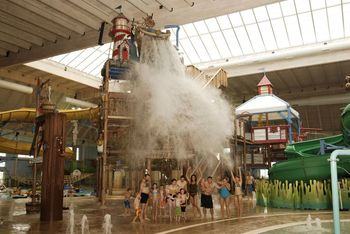 Indoor waterpark fun at Blue Harbor Resort & Spa.