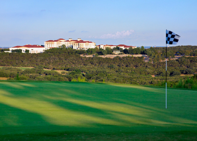 The greens at La Cantera Hill Country Resort.