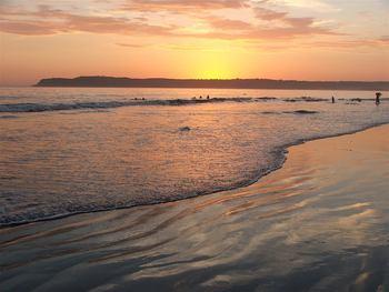 Sunset on the beach at El Cordova Hotel.