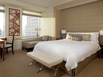 Guest room at St. Regis Hotel, San Francisco.