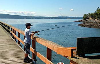 Fishing at West Beach Resort.