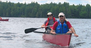 Canoeing at North Country Vacation Rentals.