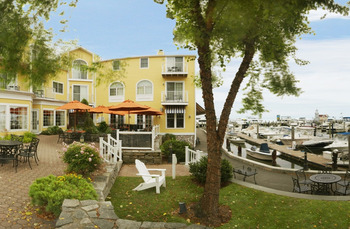 Outside terrace at Saybrook Point Inn.