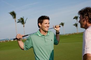 Playing golf at South Seas Island Resort.