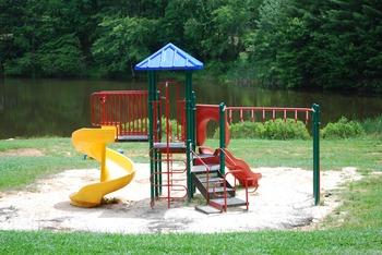 Children's playground at Lake Ridge Resort.