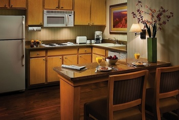 Suite kitchen at Gainey Suites Hotel.