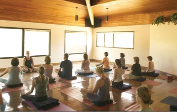 Yoga class at Canyon Ranch Tucson.