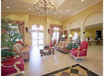 Resort lobby at Favorite Vacation Homes.