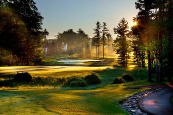Golf course at Woodloch Resort.