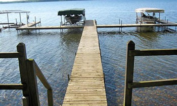 Dock at Lakeview Resort on Grindstone Lake.