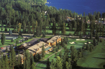 Aerial view of Grouse Mountain Lodge.