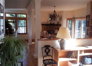 Living room at Redwood Coast Vacation Rentals.