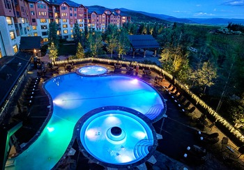 Outdoor pool at The Steamboat Grand.