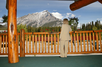 Mountain views at Inns of Banff.