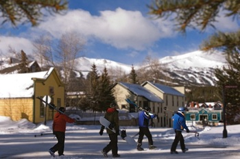 Breckenridge town near Grand Lodge on Peak 7.