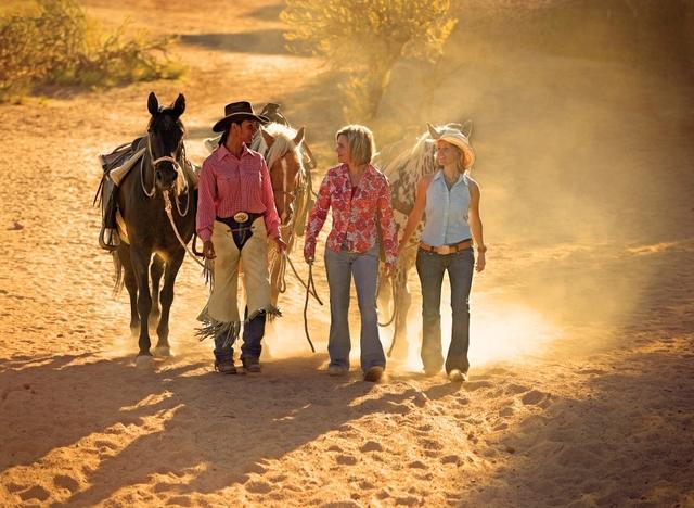 Family at Rancho De Los Caballeros.