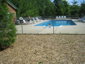 Outdoor pool at Hawk's Eye Golf Resort.